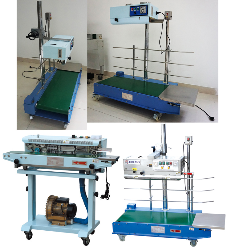 Horizontal and Vertical Continuous Impulse Heat Sealing Machine for Compound Pocket Bag with Extended Telescope Seal Line