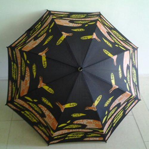 Heat Print Double Ribs Good Quality Straight Umbrella or Parasol (YS-1040A)