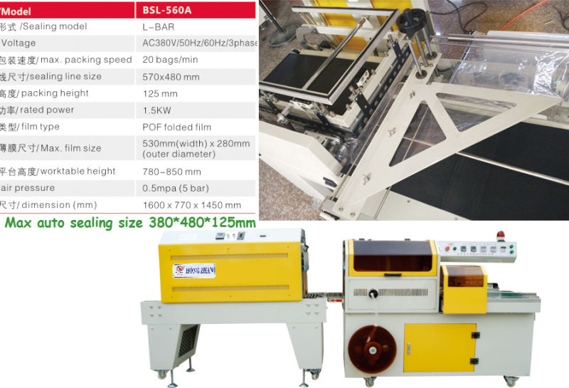 Automatic Count Array Conveyor Transport Sleeve Sealer Shrink Wrapping Package Sealing Machine Without Tray