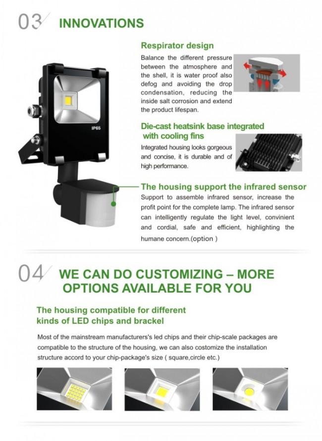 5 Year Warranty Outdoor LED Flood Light 10W 10W/20W/30W/50W/70W/100W/120W/150W/200W/300W/400W/500W/1000W