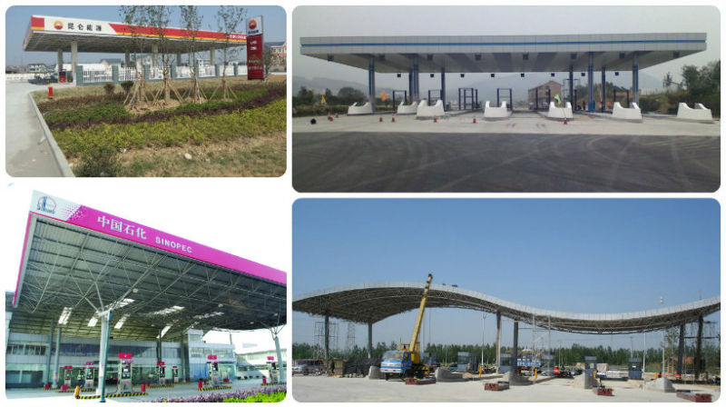 Low Cost Prefabricated Light Guage Steel Toll/Petrol Station Roof
