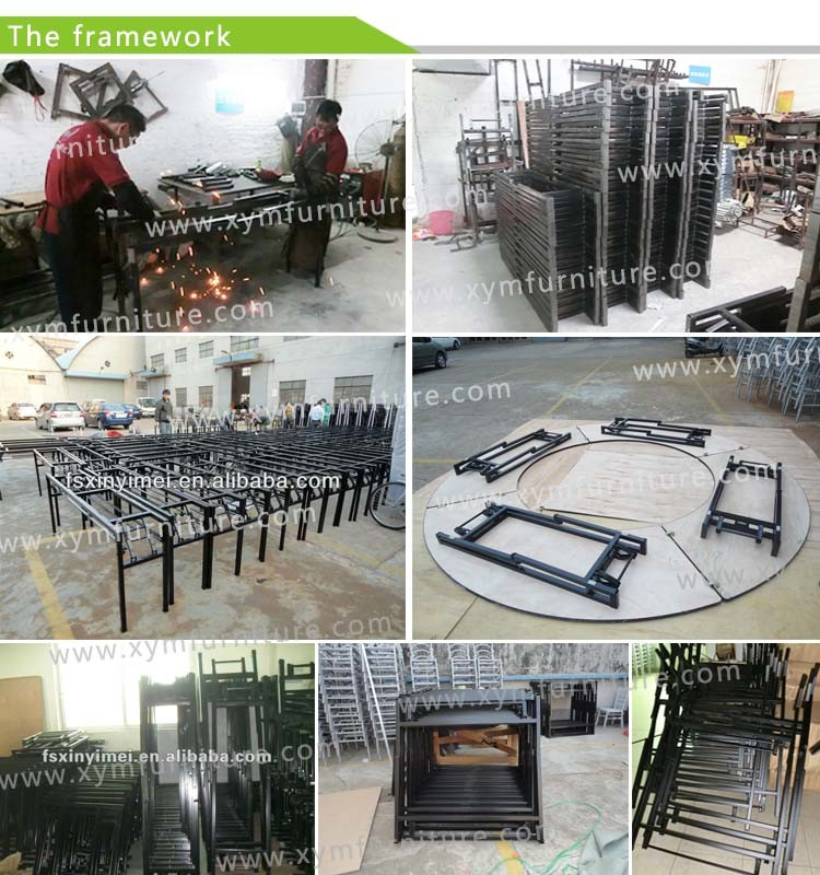 12 Seater Dining Table Modern Steel Frame Round Banquet Table