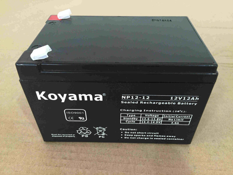 12V 12ah Lead Acid AGM Battery for Security, UPS, Surge Protector