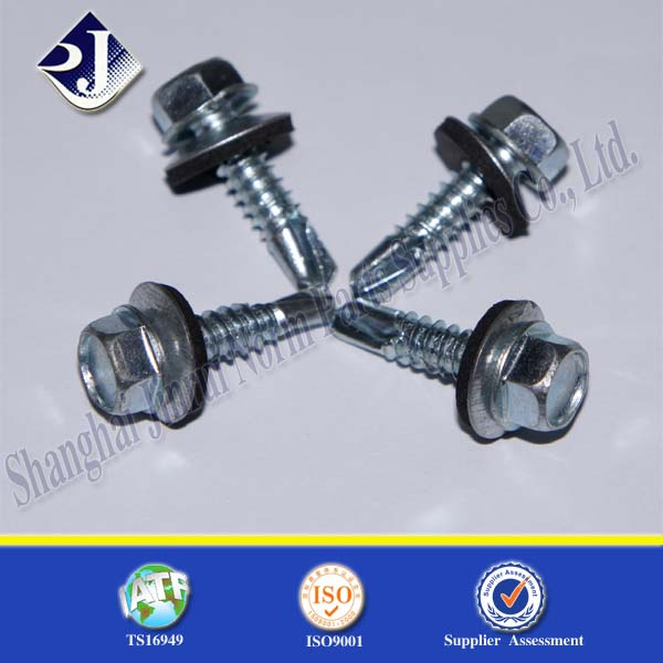 EPDM with Zinc Finsished Self Drilling Screw