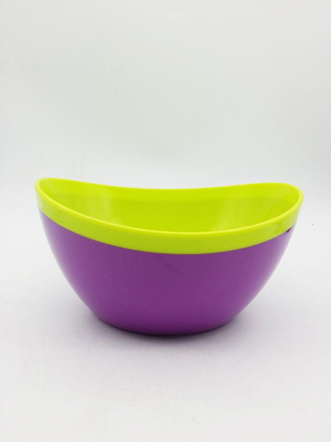 Two-Tone Plastic Salad Bowl