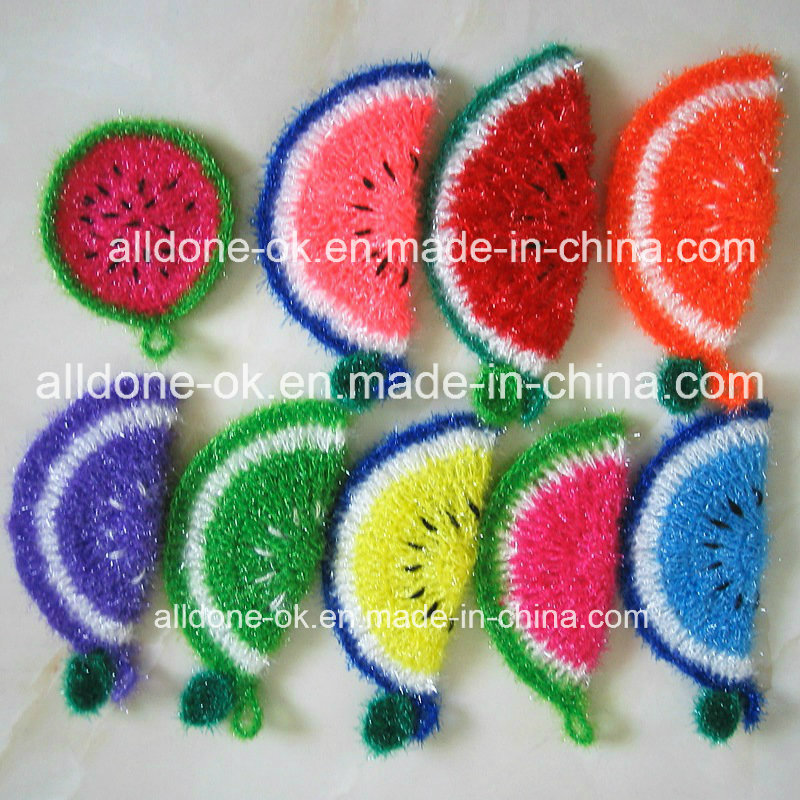 Hand Crcochet Scrubbies Scrubber Dish Cloth Carrot