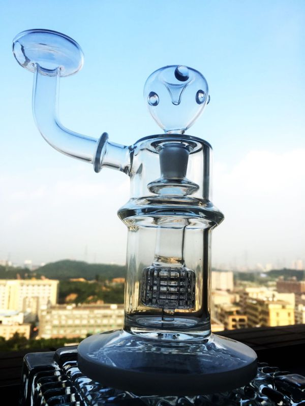 New Design Febarge Egg Oil Rig Recycler Glass Smoking Pipe