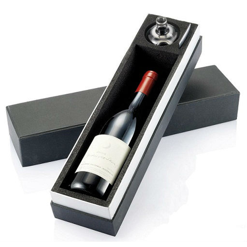 Wine Paper Packaging Boxes for One Bottle