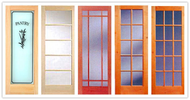 10lite/Glass Solid/Veneer Wood French Door