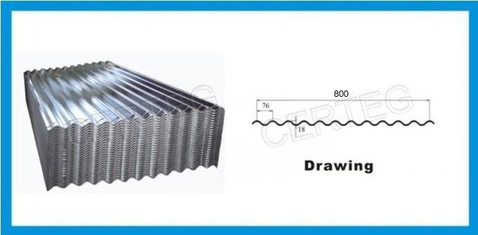 G550 Corrugated Galvanized Steel Roofing Sheet Price