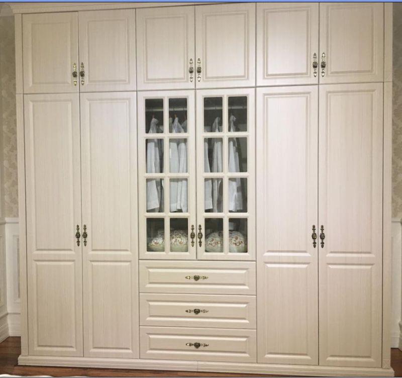 Customized European Style PVC Vavumn Wardrobe Closet (MOQ= 1 SET)
