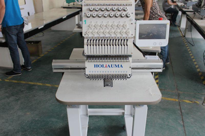 Holiauma Single Head Cap / T-Shirt Embroidery Machine, 12 Color /15color