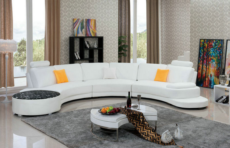 Modern U Shape Leather Sofa (958)