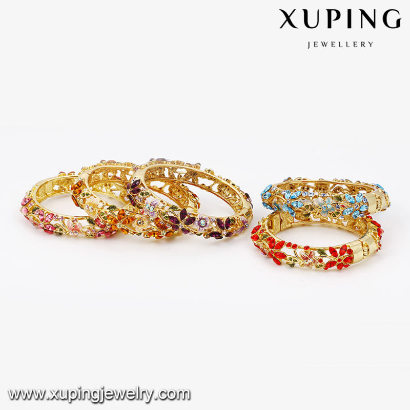 Bangle -61 Fashion Charm Colorful Rhinestone Jewelry Flower Leaf Bangle
