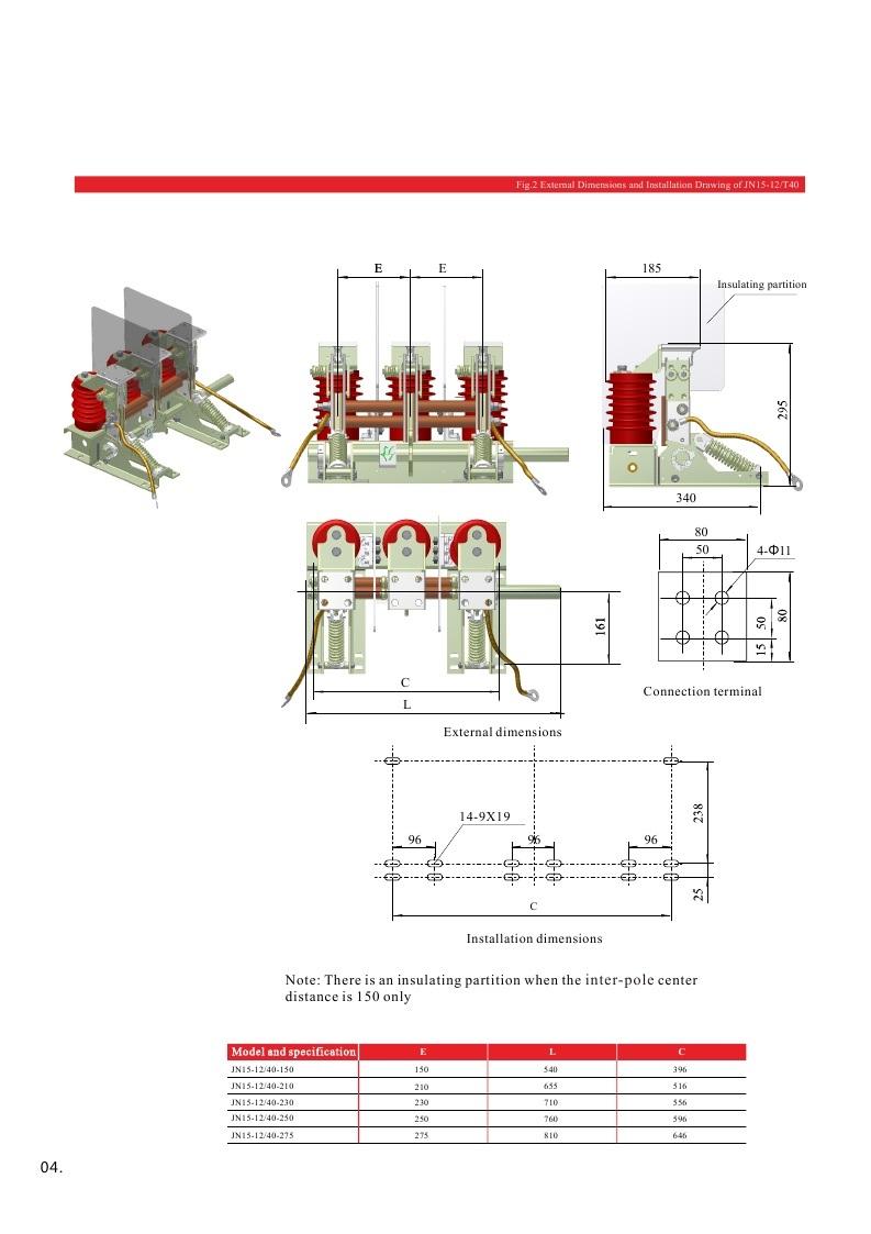 Jn15 Series (12KV, 24KV, 40.5KV) Earthing Switch, Indoor Type