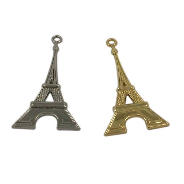 Garment Hardware Custom 3D Metal Eiffel Tower Hang Tag