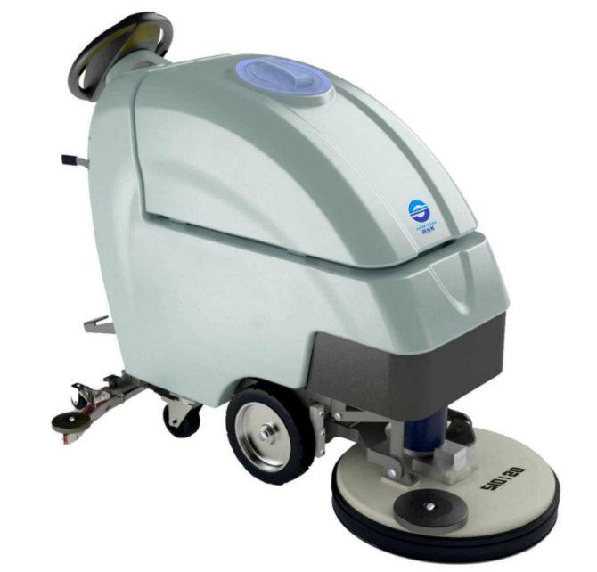 Single-Brush Floor Cleaning Machine