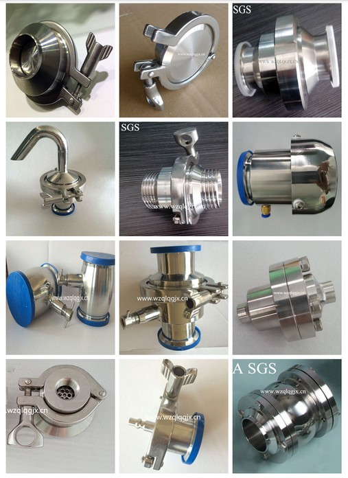 Stainless Steel 304 316L Sanitary Check Valve with Welded Clamp Thread Connection