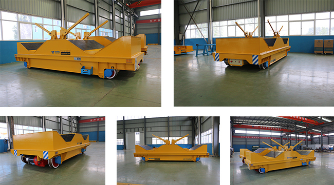 Heavy Material Transfer Trolley in-Plant Use Rail Guided Transfer Cart