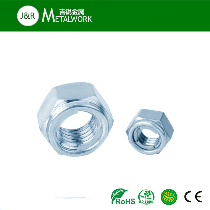 Zinc Plated Galvanized All Metal Hex Flange Lock Nut (DIN580)