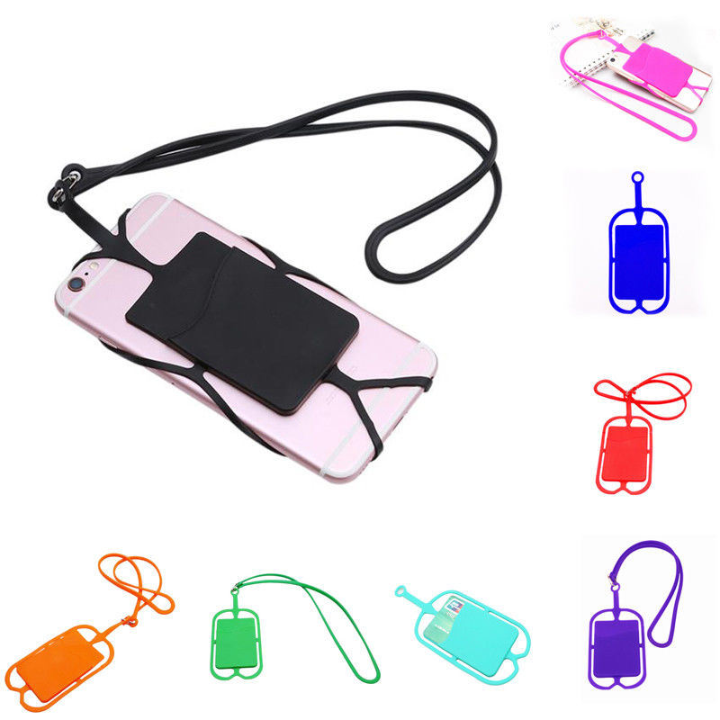 Universal Silicone Lanyard Case Cover Holder Sling Necklace Strap for Cell Phone