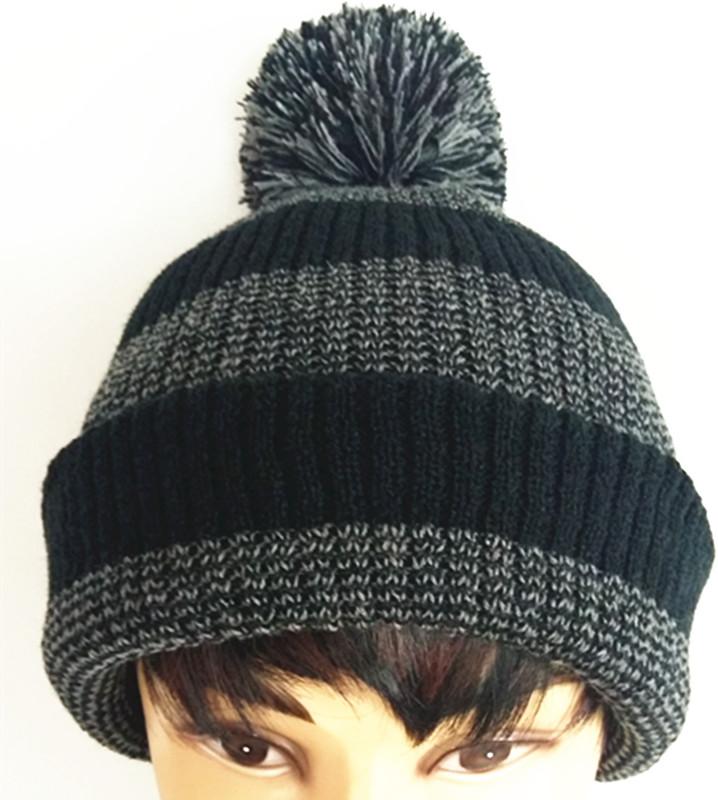 Custom Beautiful Weave Embroider Jacquard Knitting Caps