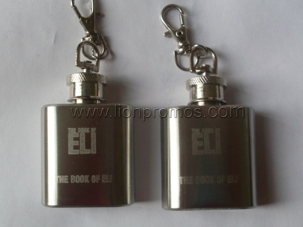 Custom Logo Laser Engraved Stainless Steel 5oz Wine Flask