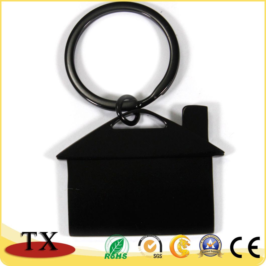 Custom Logo House Shape Metal Key Chain for Promotional Gift