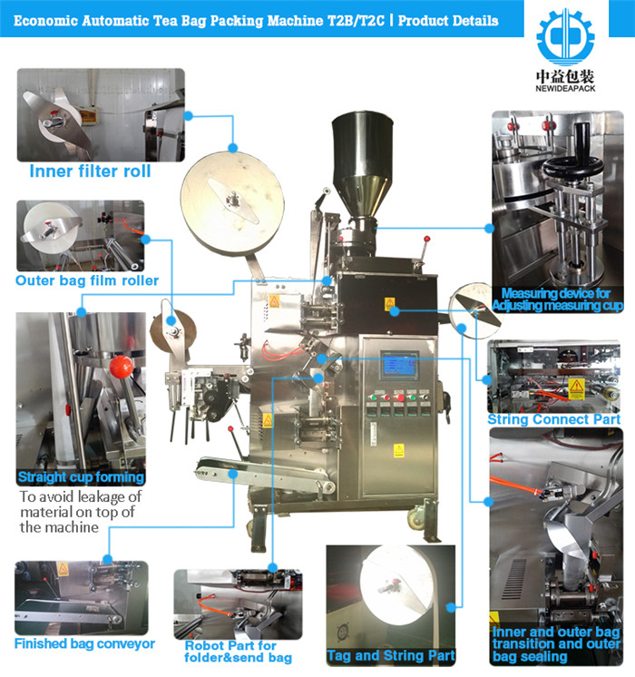 Automatic Inner Tea Bag&Outer Envelop Packing Machine (ND-T2C)