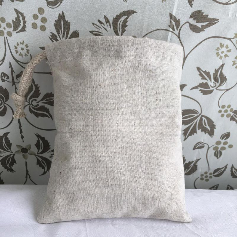 Mini Reusale Natural Wholesale Hemp Bag Drawstring with One String