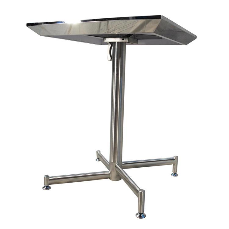Stacking Folding Restaurant Wooden Shark Nose Edge Dining Table (SP-RT204)