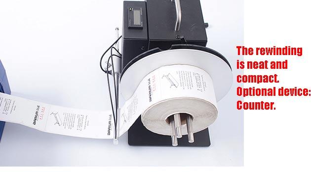 Automatic rewinder for sticker