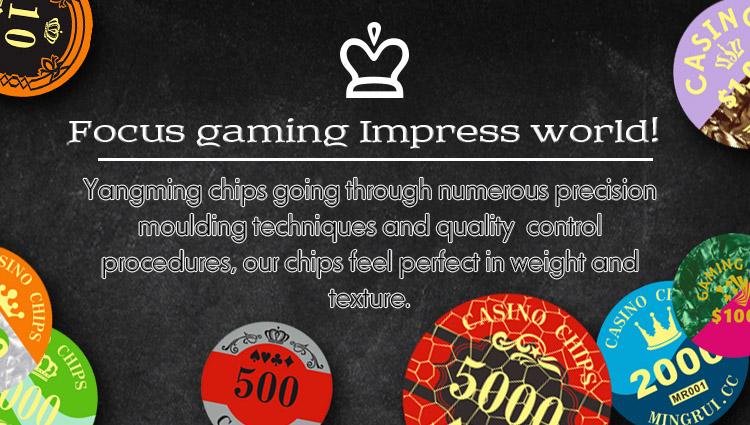 Crystal Screen Poker Chip Set (730PCS) -Ym-Sjsy002