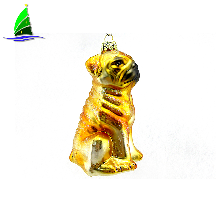 Hanging Dog Christmas Ornament