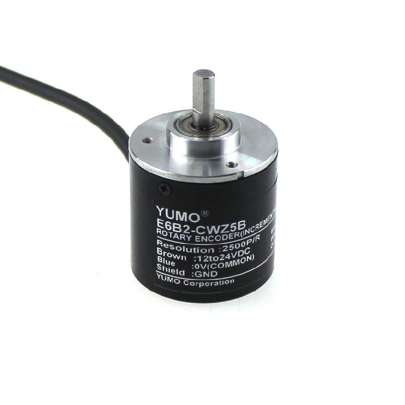 Yumo E6b2-Cwz5b 2500PPR 12V 24V DC Shaft Incremental Rotary Encoder