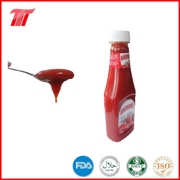 Halal Food Vego Brand 340 G Tomato Ketchup in Plastic Bottle
