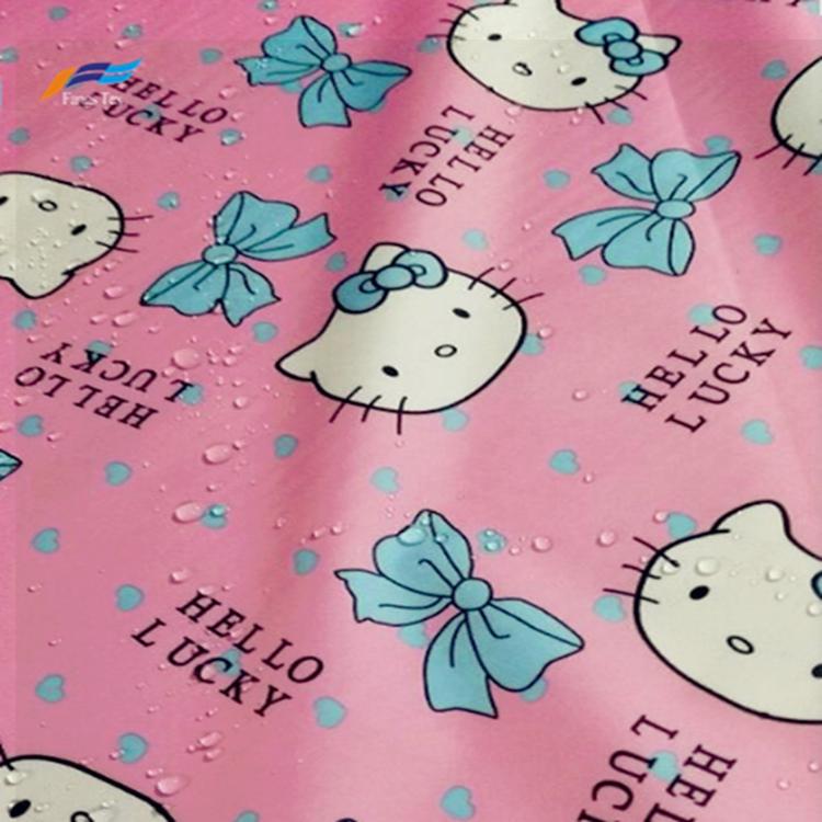 Polyester 190T PVC Taffeta Printed Waterroof Children Fabric 2