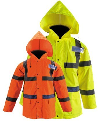 High Visibility Reflective Rain Jacket Yg729