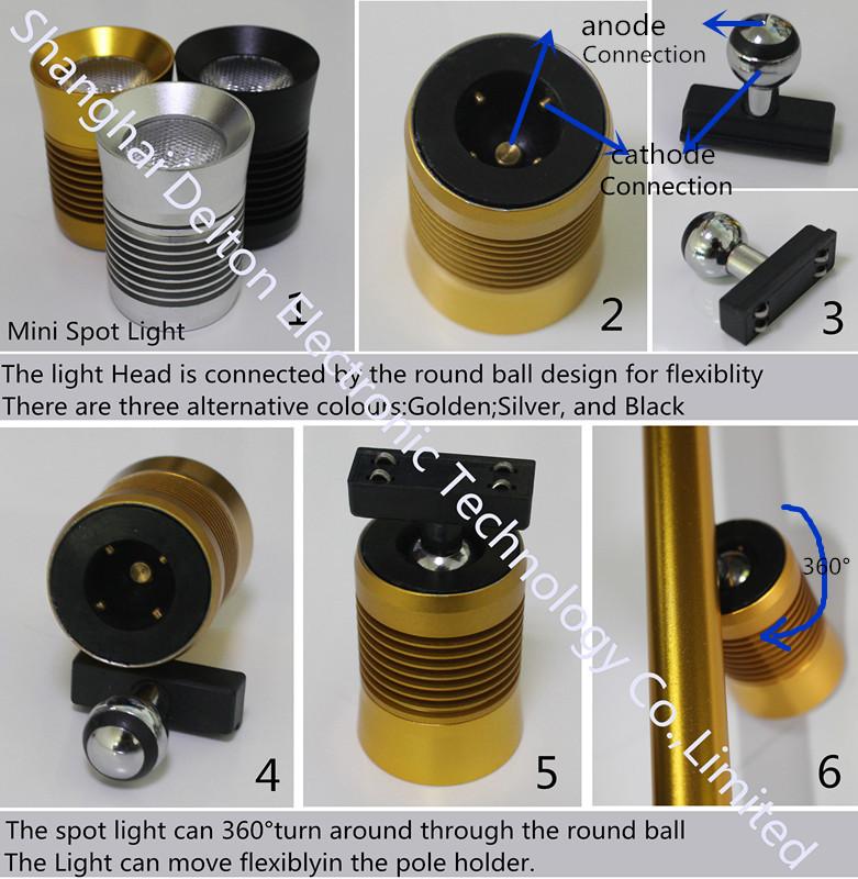 Multiple-Light Adjustable Pole-Type Cabinet Use LED Spot Light (DT-ZBD-001)