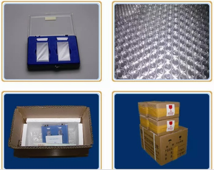 Two Sides Clear Optical Quartz Cell Cuvette with Seal Tube