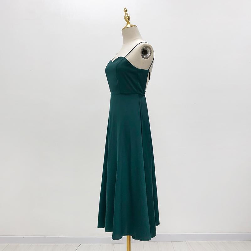 Women Solid Color Sling Dresses