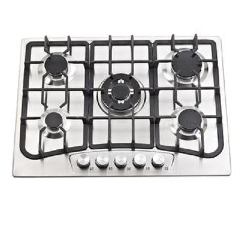 5 Burner Gas Cooker Hob, Built in Gas Hob