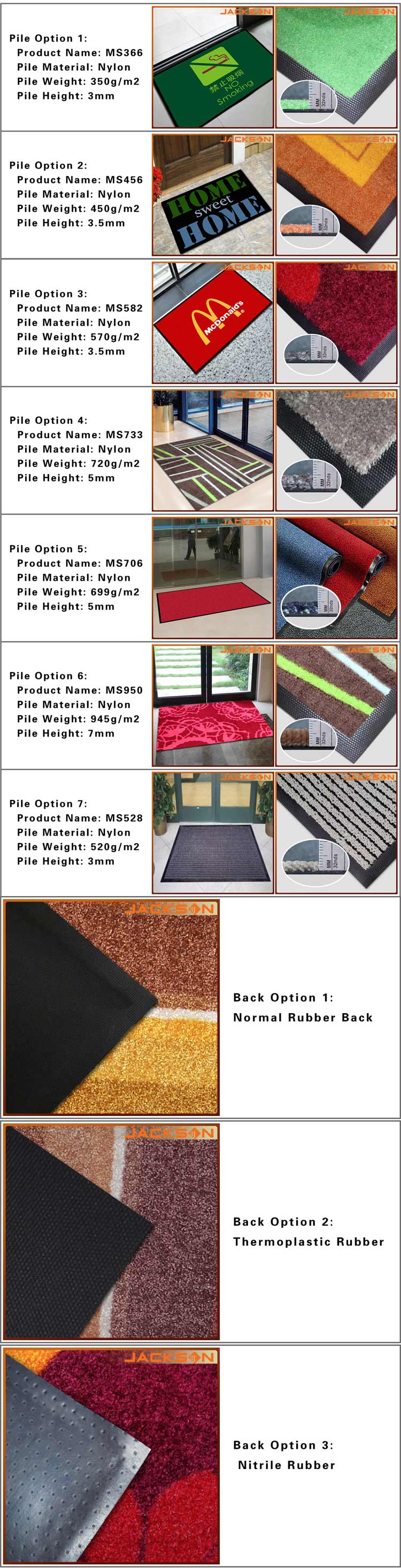 Customized Printing Mat for Door
