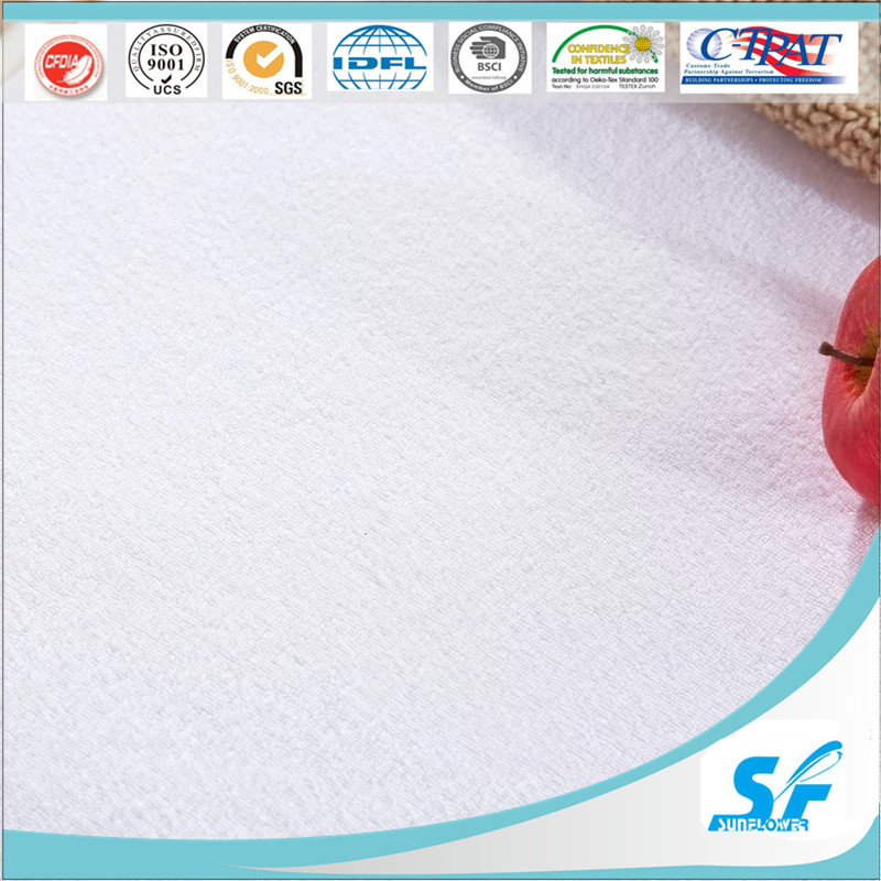 Machine Washable Terry Waterproof Anti Bacteria Mattress Protector