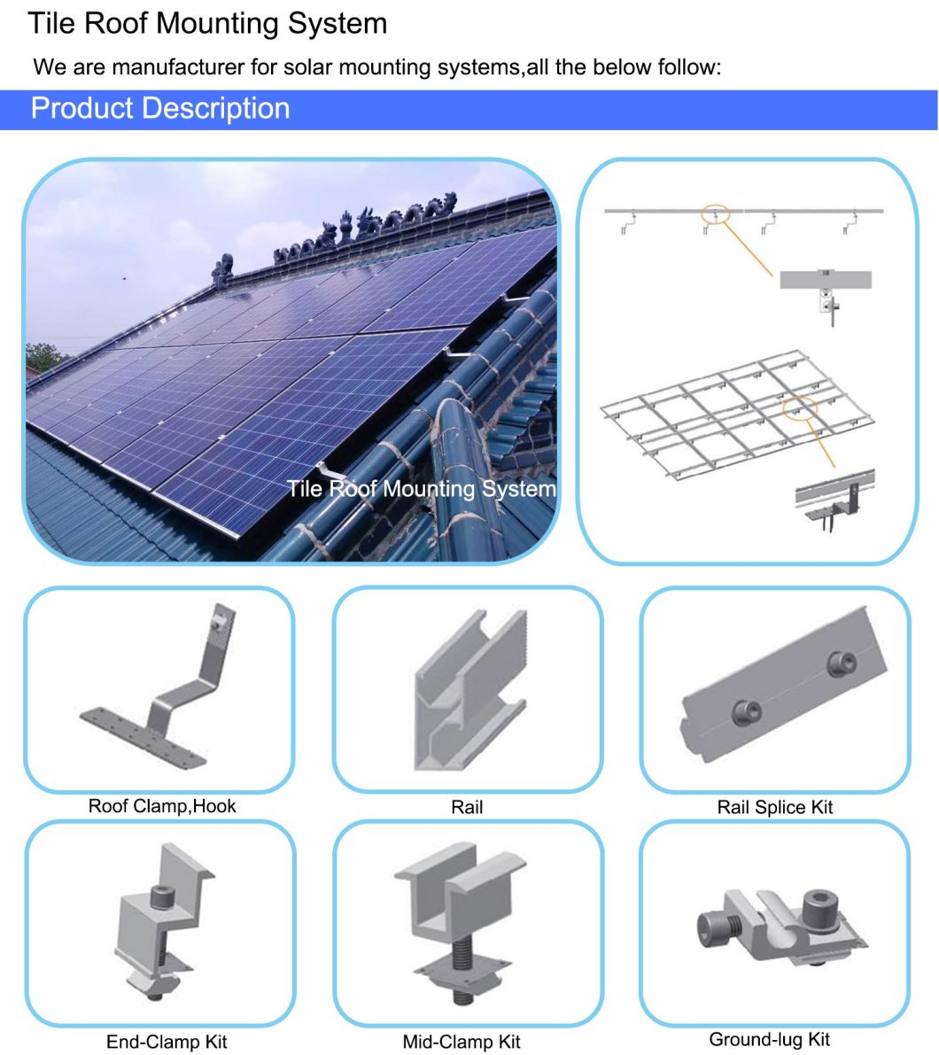 Roof Rack Solar Mounting System Products Aluminum Anodized Power Supply