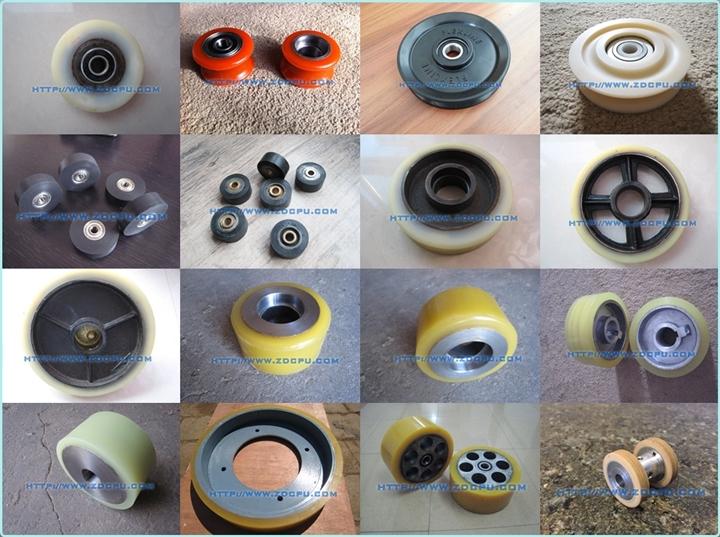 High Quality Round Solid Nylon Top Hanging Door Roller Pulley Wheels for Sliding Door