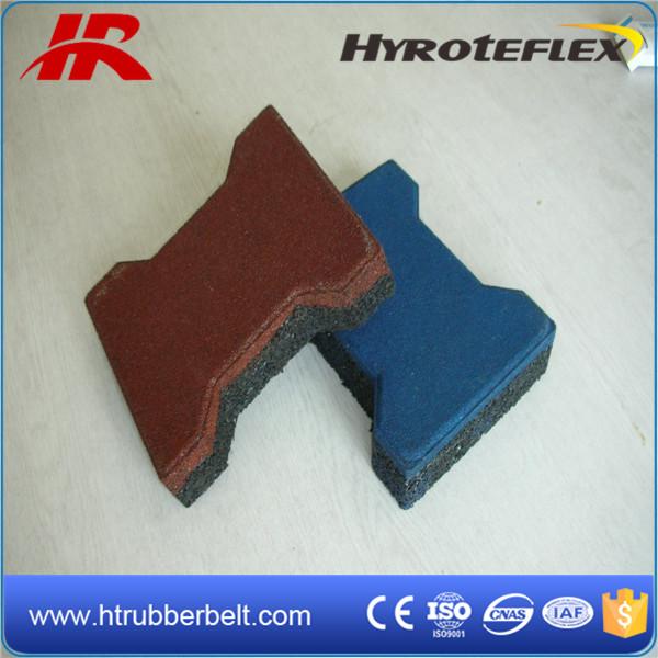 Interlocking Dog Bone Rubber Flooring, Rubber Paving Tiles
