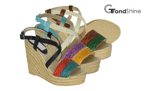 Women's Platform Espadrilles Braided Strap Wedge Sandals