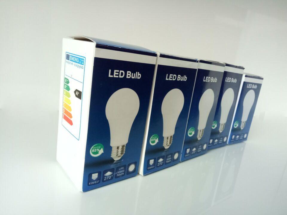 Energy Saving 9W LED High Prower Lamp Bulb Light E27 E26 B22 Form Factory China