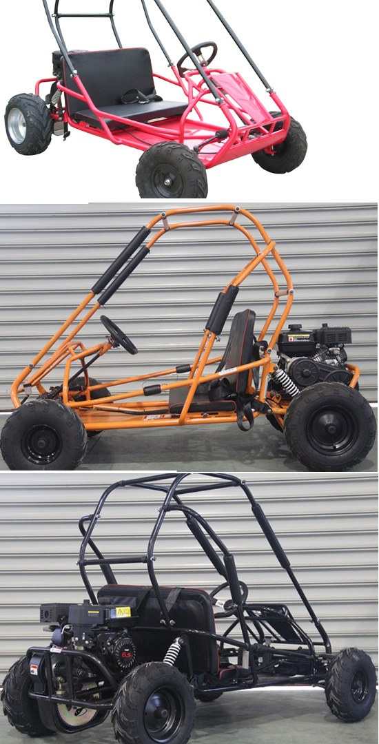 2 Seat Gas Kids Cheap 196cc Racing Go Kart for Sale